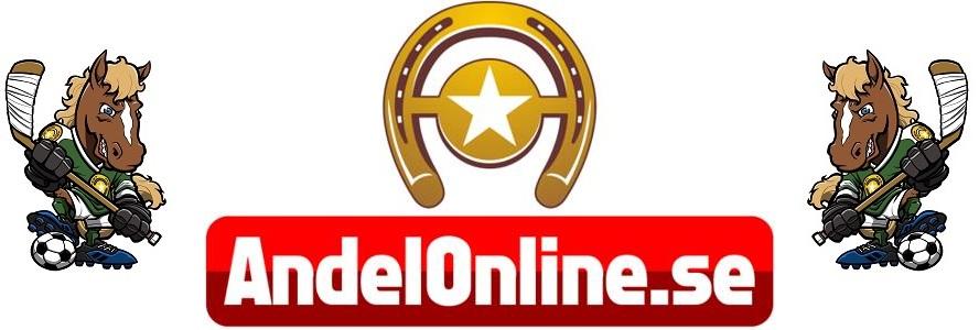 AndelOnline.se - Trav- och sportandelsspel online Logo